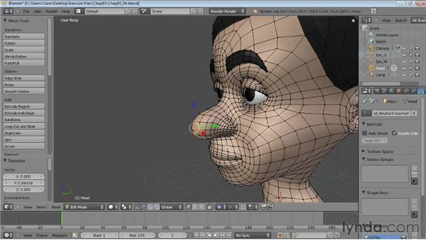 Proportional editing: Blender Essential Training