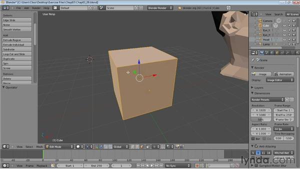 Subdividing meshes: Blender Essential Training