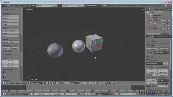 Joining mesh objects: Blender Essential Training