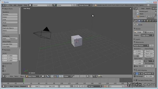 Using layers: Blender Essential Training