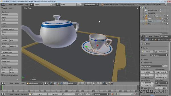 Creating hierarchies: Blender Essential Training