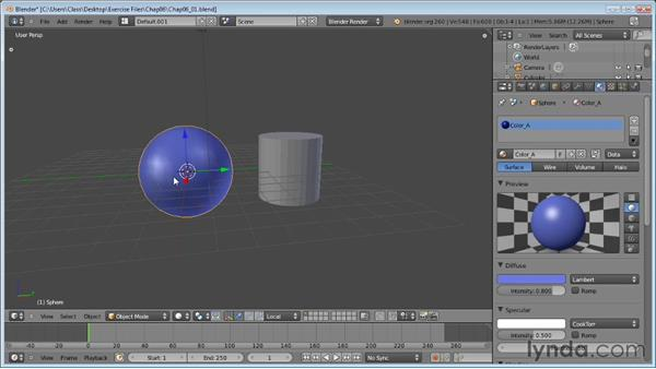 Assigning materials to objects: Blender Essential Training