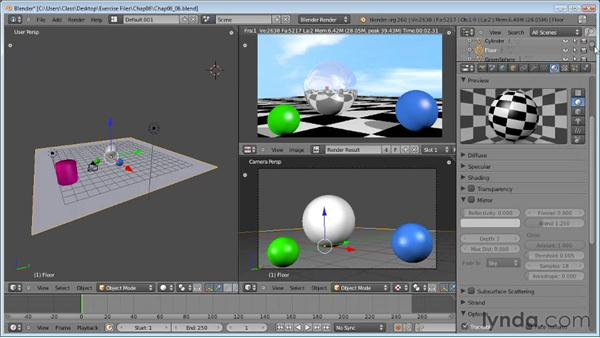 Creating reflections : Blender Essential Training