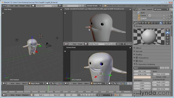 Subsurface scattering: Blender Essential Training