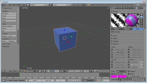 Adding a simple texture: Blender Essential Training