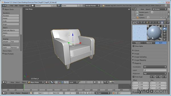 Using bitmaps: Blender Essential Training