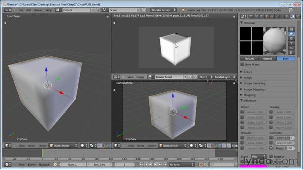 Displacement mapping: Blender Essential Training