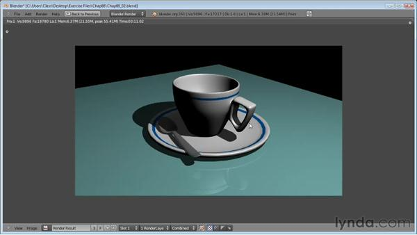 Fine-tuning ray-trace shadows: Blender Essential Training