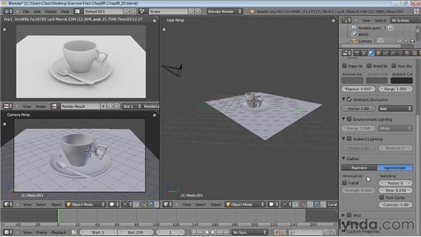 Ambient occlusion: Blender Essential Training