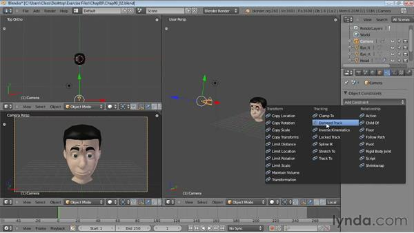 Creating camera targets with constraints: Blender Essential Training
