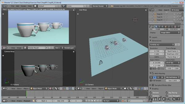 Render properties: Blender Essential Training