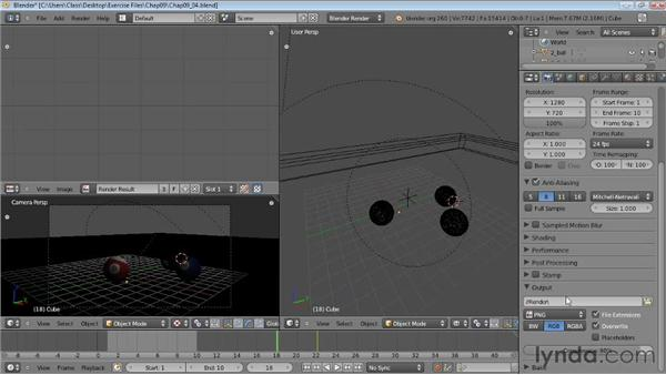 Rendering animation: Blender Essential Training