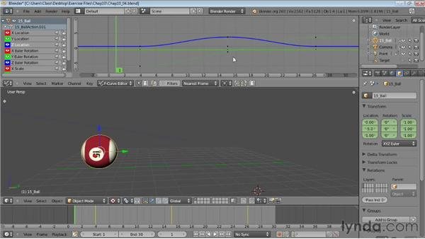 Editing animation in the Graph Editor: Blender Essential Training