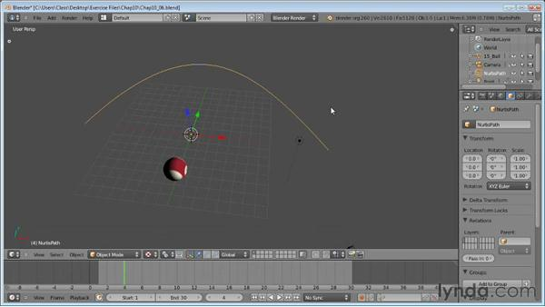 Path animation: Blender Essential Training