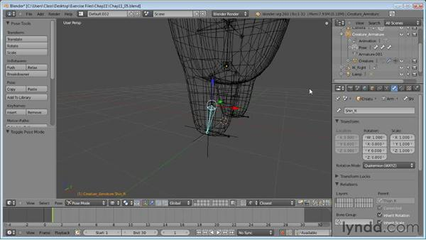 Setting up inverse kinematics: Blender Essential Training