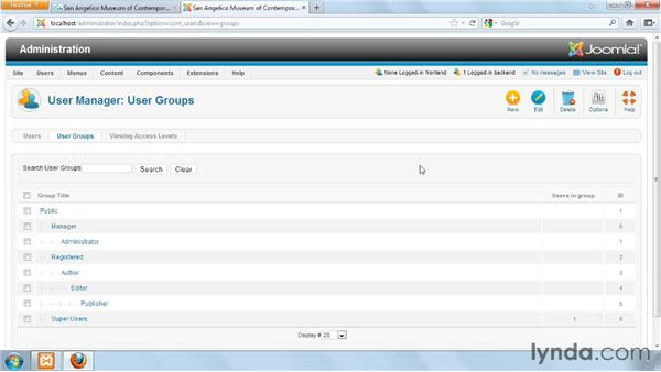 Defining groups and using the default groups: Joomla! 1.7 and Joomla! 2.5: Access Control Lists in Depth