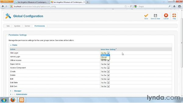 Understanding core permissions: Joomla! 1.7 and Joomla! 2.5: Access Control Lists in Depth