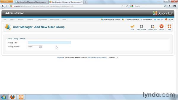 Creating new groups: Joomla! 1.7 and Joomla! 2.5: Access Control Lists in Depth