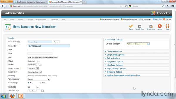 Creating a user menu: Joomla! 1.7 and Joomla! 2.5: Access Control Lists in Depth