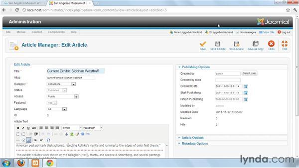 Testing logins: Joomla! 1.7 and Joomla! 2.5: Access Control Lists in Depth