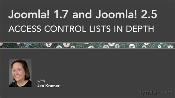 Goodbye: Joomla! 1.7 and Joomla! 2.5: Access Control Lists in Depth