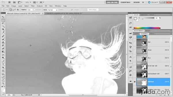 Enhancing a mask with Apply Image: Photoshop Masking and Compositing: Hair