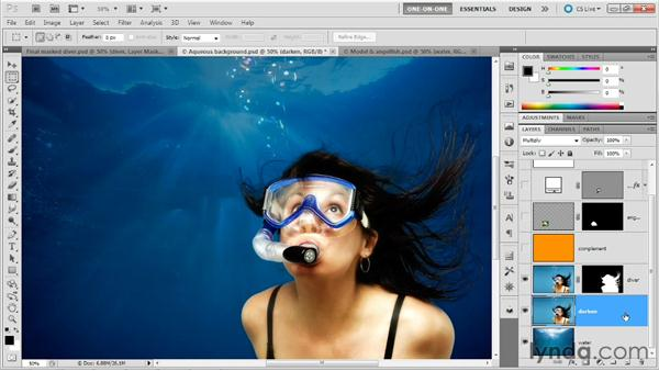 Compositing dark hair: Photoshop Masking and Compositing: Hair