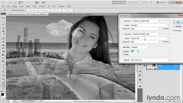 Creating a contrast mask: Photoshop Masking and Compositing: Hair
