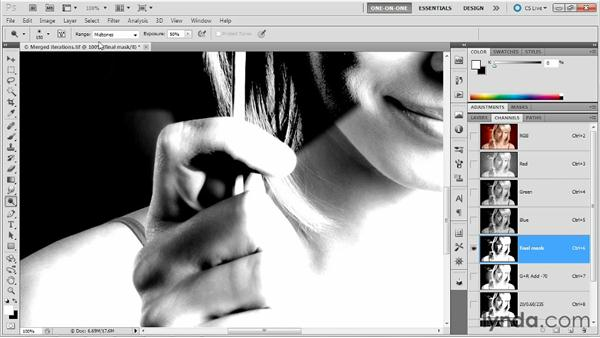 Performing selective edits with Dodge and Burn: Photoshop Masking and Compositing: Hair