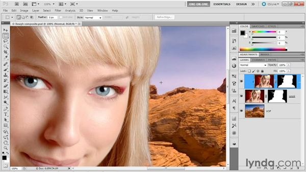 Blending clipped layers independently: Photoshop Masking and Compositing: Hair