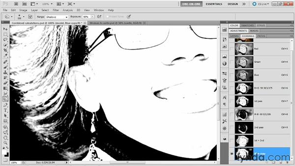 Painting and editing the third-pass mask: Photoshop Masking and Compositing: Hair