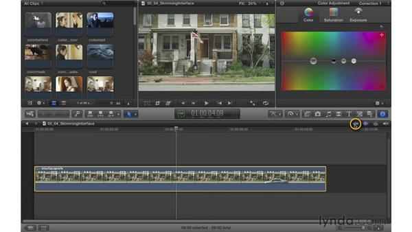 Making interface and preference adjustments: Color Correction in Final Cut Pro X
