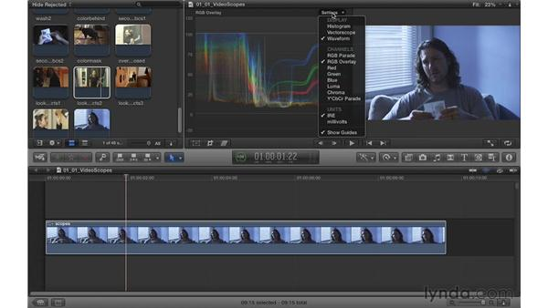 Understanding the video scopes: Color Correction in Final Cut Pro X