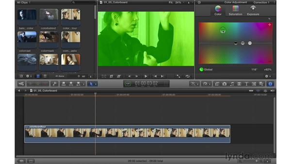 Overview of the Color Board: Color Correction in Final Cut Pro X