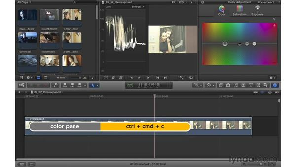 Fixing overexposed footage: Color Correction in Final Cut Pro X