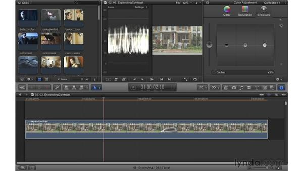 Expanding contrast: Color Correction in Final Cut Pro X