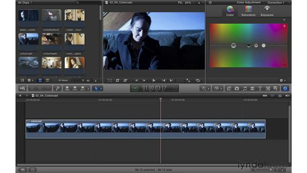 Neutralizing a color cast: Color Correction in Final Cut Pro X