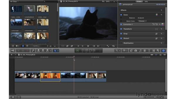 Using primary corrections to protect for Broadcast Safe: Color Correction in Final Cut Pro X