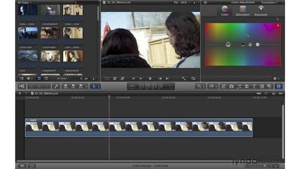 Creating a warm look: Color Correction in Final Cut Pro X