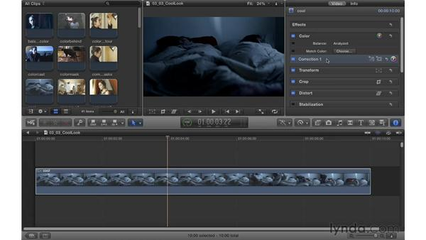 Creating a cool look: Color Correction in Final Cut Pro X
