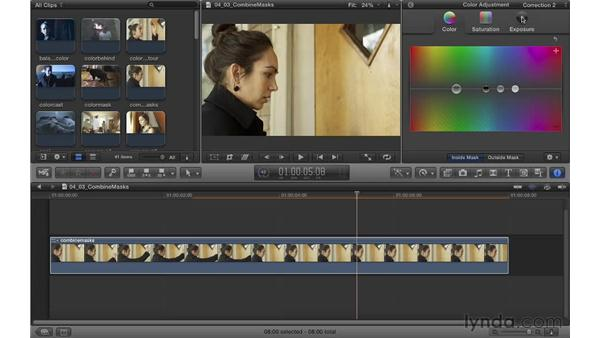 Combining color and shape masks: Color Correction in Final Cut Pro X