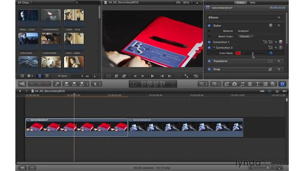Using secondary corrections to protect for Broadcast Safe: Color Correction in Final Cut Pro X
