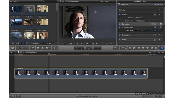 Enhancing skin tone with a color mask: Color Correction in Final Cut Pro X