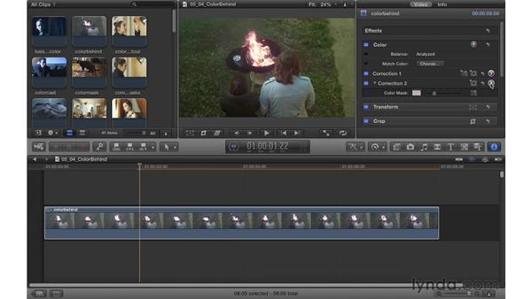 Creating a leave-behind color look: Color Correction in Final Cut Pro X