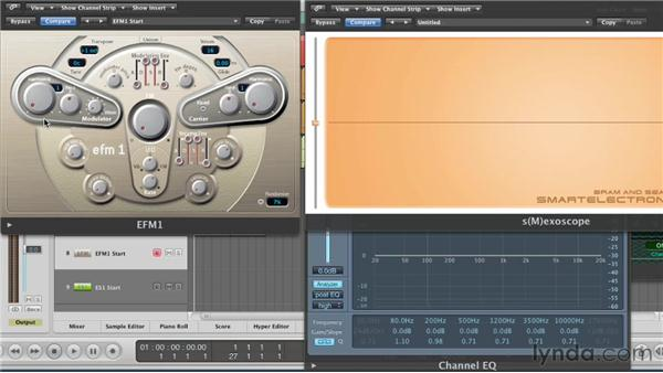 Changing timbre with the modulator: Virtual Instruments in Logic Pro
