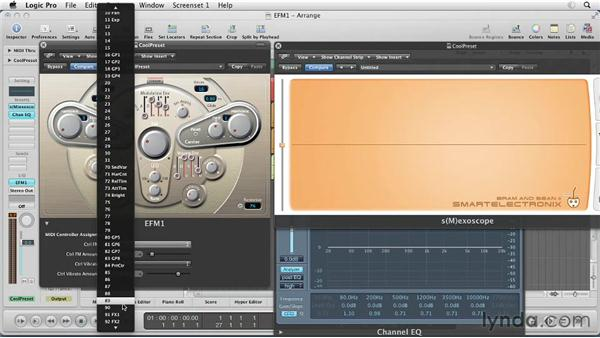 Assigning MIDI controls to FM: Virtual Instruments in Logic Pro