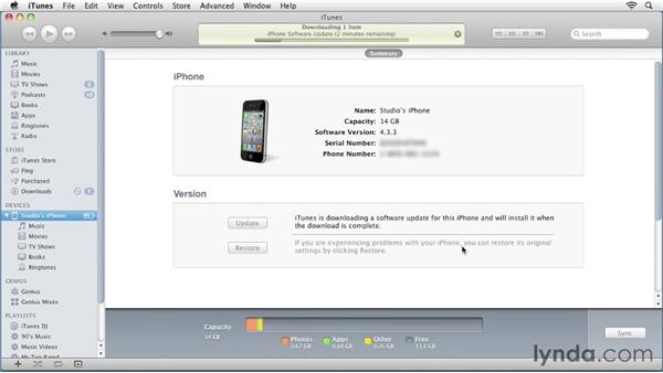 Upgrading to iOS 5: iPhone and iPod touch iOS 5 Essential Training