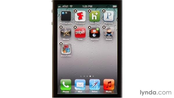 Organizing apps on the Home screen with folders: iPhone and iPod touch iOS 5 Essential Training