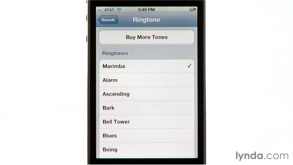 Choosing and controlling sounds: iPhone and iPod touch iOS 5 Essential Training