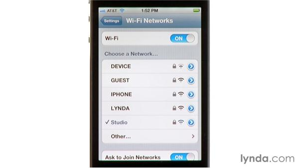 Connecting to a Wi-Fi network: iPhone and iPod touch iOS 5 Essential Training
